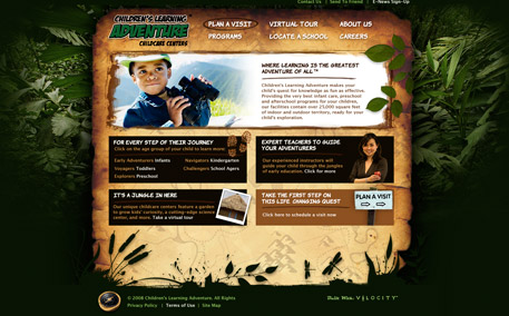 Children's Learning Adventure Homepage