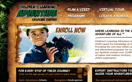 Children's Learning Adventure Homepage Detail