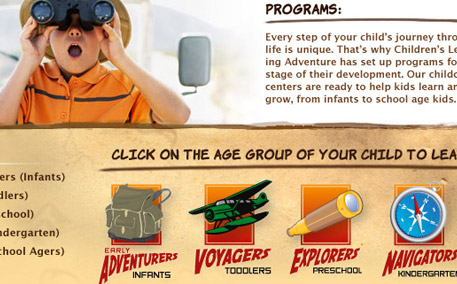 Children's Learning Adventure Page Detail