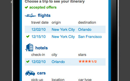 Priceline.com Mobile Web Version 1